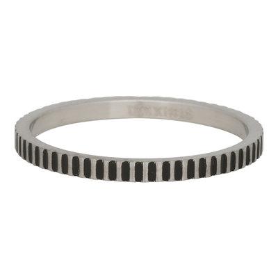 iXXXi Ring 2mm Edelstaal Cartels Zilver-kleurig
