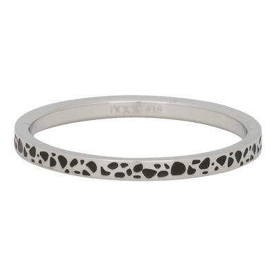 iXXXi Ring 2mm Edelstaal Spots Zilver-kleurig