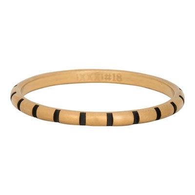 iXXXi Ring 2mm Edelstaal Stripes Goud-kleurig