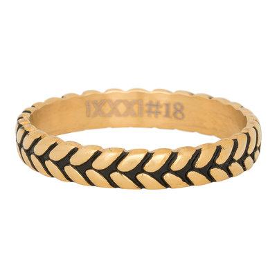 iXXXi Ring 4mm Edelstaal Leaf Knot Goud-kleurig