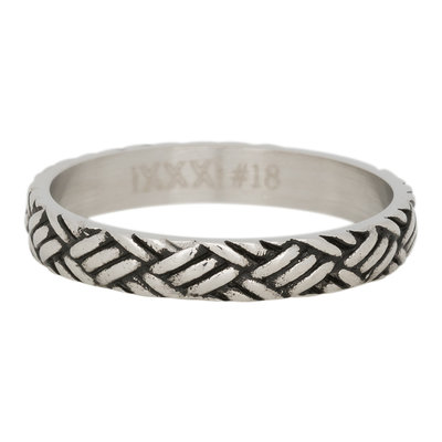 iXXXi Ring 4mm Edelstaal Love Knot Zilver-kleurig