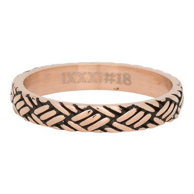 iXXXi Ring 4mm Edelstaal Love Knot Rose Goud-kleurig