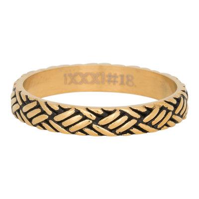 iXXXi Ring 4mm Edelstaal Love Knot Goud-kleurig