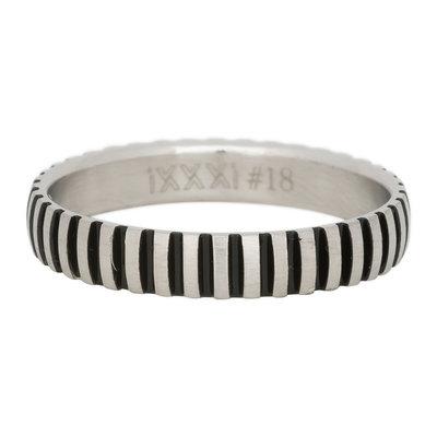 iXXXi Ring 4mm Edelstaal Piano Zilver-kleurig
