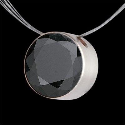 Melano Stainless Steel Zirkonia Hanger Black