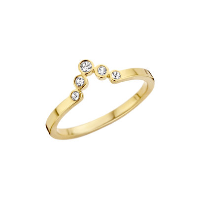 Melano Friends Ring Gold coloured Pointed Zirkonia Crystal