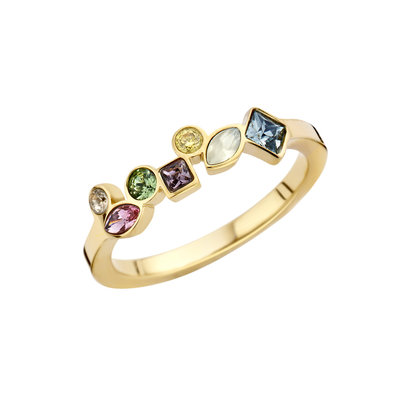 Melano Friends Ring Goud Kleurig Mosaic Hue