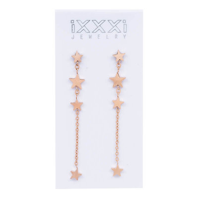iXXXi Oorstekers 4 Stars Dangle Rose Goud-kleurig