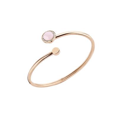 Melano Kerst Special 2018 Vivid Armband Rose Goudkleurig  met Rose Quartz Zirkonia Crystal Meddy Rose Goudkleurig