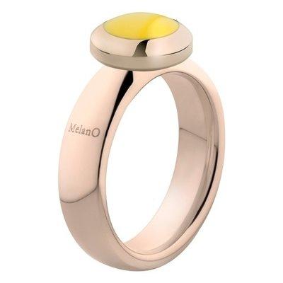 Melano Vivid Ring Vicky 6mm Edelstaal Rose Goudkleurig