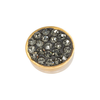 iXXXi Top Part Black Diamond Stones Goudkleurig