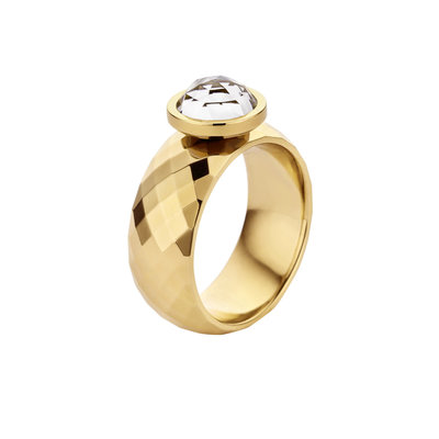Melano Vivid Ring Vai Edelstaal Goudkleurig 8mm breed