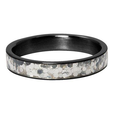 iXXXi Ring 4mm Glitter Confetti  Zwart