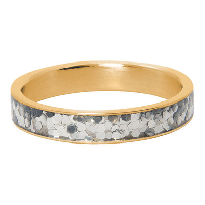 iXXXi Ring 4mm Glitter Confetti  Goudkleurig