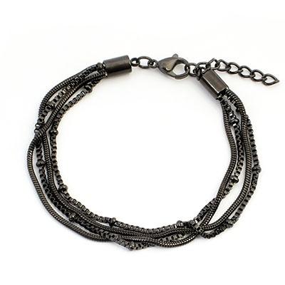 iXXXi Edelstaal armband Snake Knot Zwart 17cm - 20cm