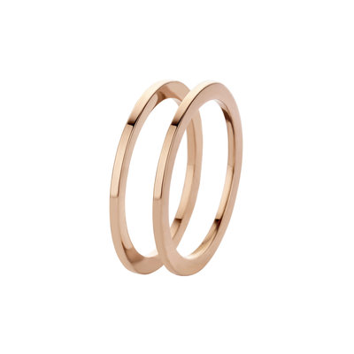 Melano Friends Ringen Sade Stainless Steel Rose Gold-coloured 2 rings