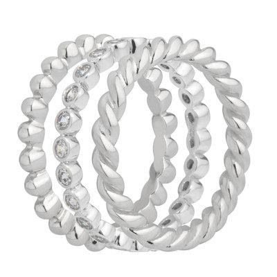Melano Zilveren Ringen Set 2,5mm