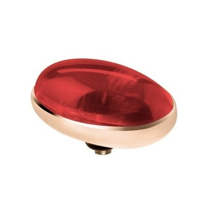 Melano Twisted Meddy Oval Edelstaal China Red Rose Goudkleurig
