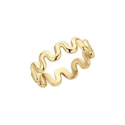 Melano Friends Crinkle Ring Goudkleurig