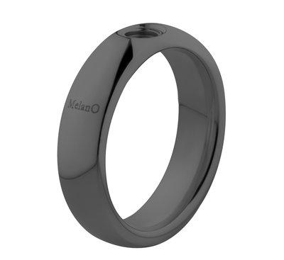 Melano Vivid Ring Vicky 6mm Edelstaal Zwart