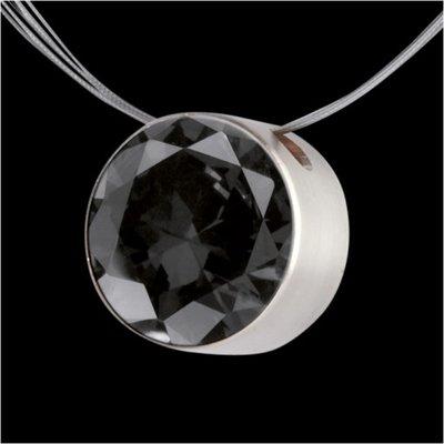 Melano Stainless Steel Zirkonia Hanger Transparant Black