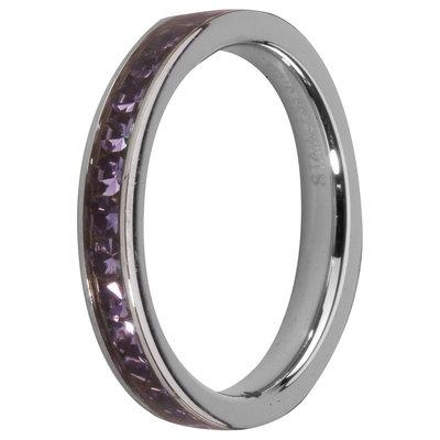 Melano Friends Side Ring, Zirkonia Stones Tanzanite