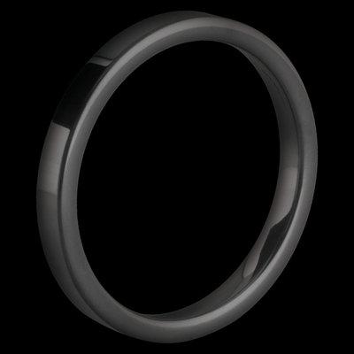 Melano Keramische Side Ring Glans Zwart