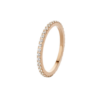 Melano Friends Ring Sade Stainless Steel Rose Gold-coloured Zirkonia Crystal
