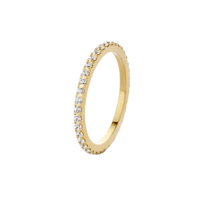 Melano Friends Ring Sade Stainless Steel Gold-coloured Zirkonia Crystal
