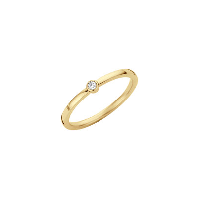 Melano Friends Mini Zirkonia Ring Goudkleurig