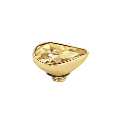 Melano Twisted Meddy 8mm Pear Goudkleurig  Gold-coloured Shadow