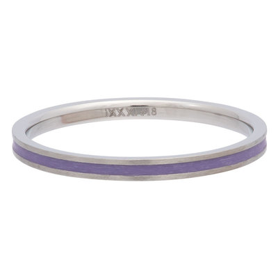 iXXXi Ring 2mm Edelstaal Line Purple