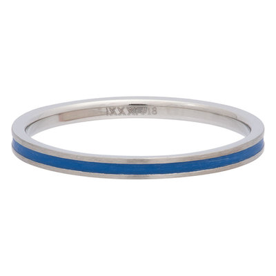 iXXXi Ring 2mm Edelstaal Line Blue