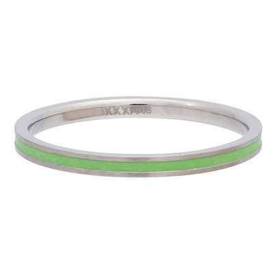 iXXXi Ring 2mm Edelstaal Line Green