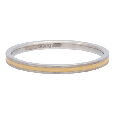 iXXXi Ring 2mm Edelstaal Line Yellow