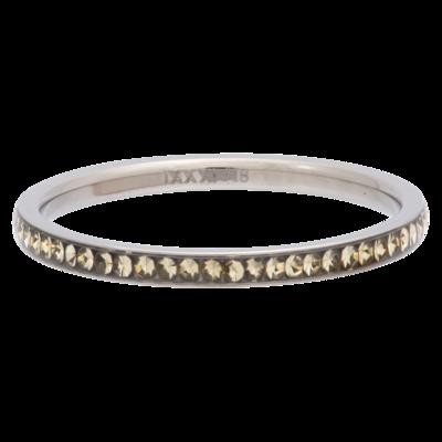 iXXXi Ring 2mm Edelstaal Zilverkleurig Zirkonia Blond Flare