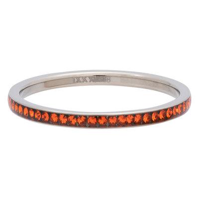 iXXXi Ring 2mm Edelstaal Zilverkleurig Zirkonia Sun