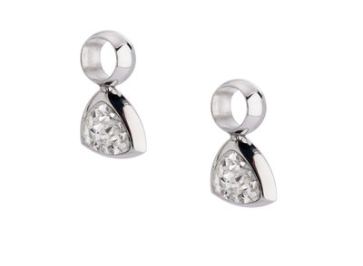 Melano Kim Earring Pendants Stainless Steel Silver-coloured Zirkonia Crystal