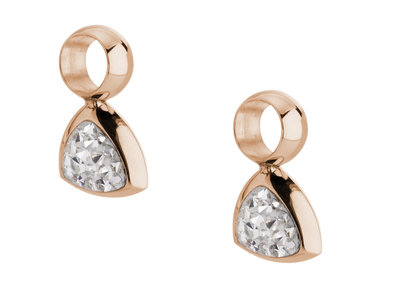 Melano Kim Earring Pendants Stainless Steel Rose Gold-coloured Zirkonia Crystal