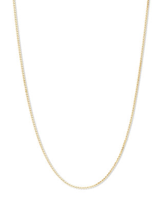 Melano Friends Ketting Flat Wheat Goudkleurig