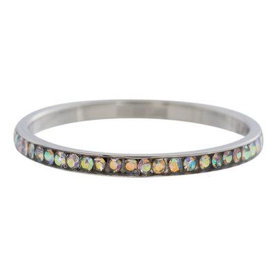 iXXXi Ring 2mm Edelstaal Zilverkleurig Zirkonia AB
