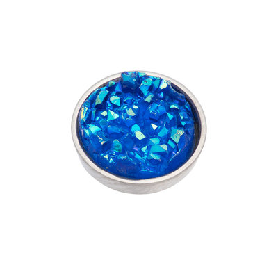 iXXXi Top Part Drusy Blue Zilverkleurig