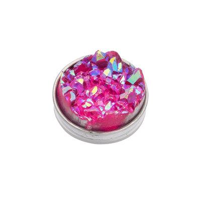 iXXXi Top Part Drusy Pink Zilverkleurig