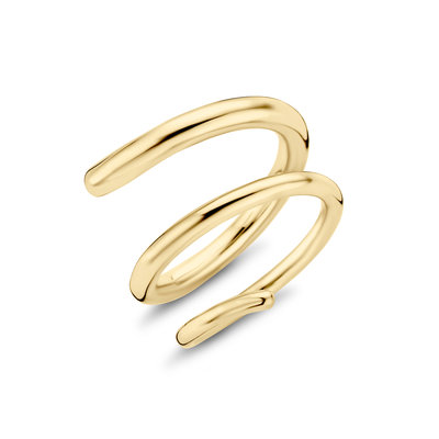 Melano Double Helix Ring Limited Edition Goudkleurig