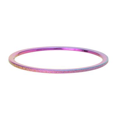 iXXXi Ring 1mm Edelstaal Rainbow Sandblasted