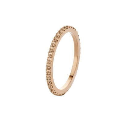 Melano Friends Ring Sade Rose Gold-coloured Zirkonia Champagne