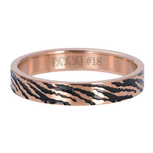 iXXXi Ring 4mm Zebra Rose Goudkleurig