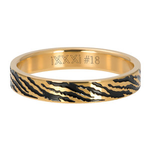 iXXXi Ring 4mm Zebra Goudkleurig