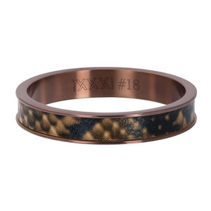 iXXXi Ring 4mm Leopard Brown