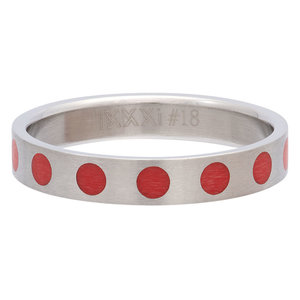 iXXXi Ring 4mm Edelstaal Round Red